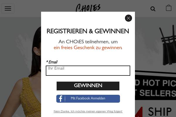 2017 Neujahr Rabatt auf www.Choies.com.